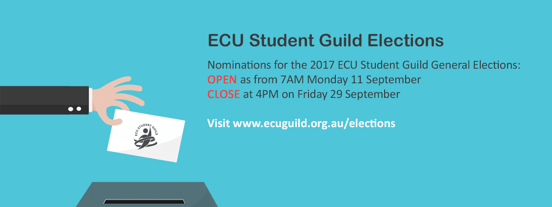 2017 ECU Student Guild Elections (Nominations Open)