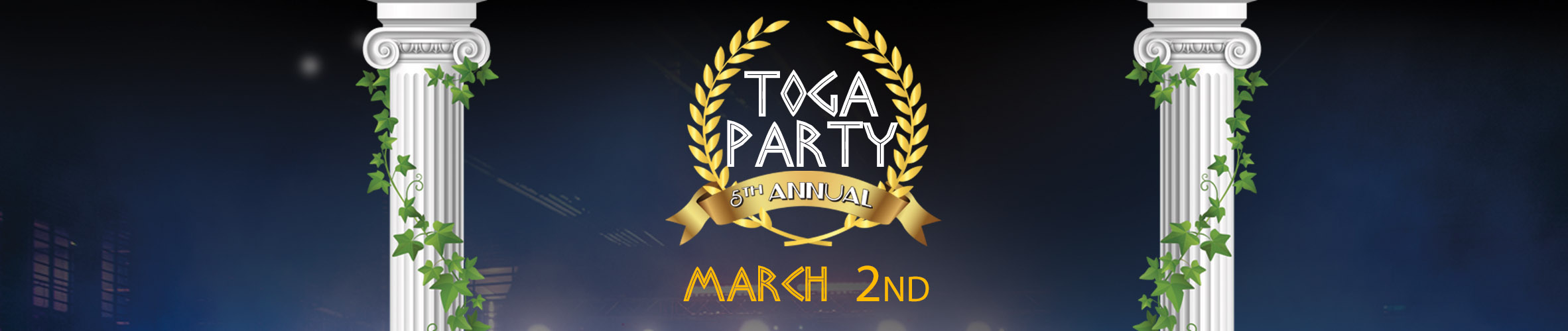 Toga Party Banner